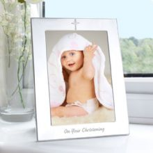 Silver 5x7 Christening Photo Frame       NP0102E94